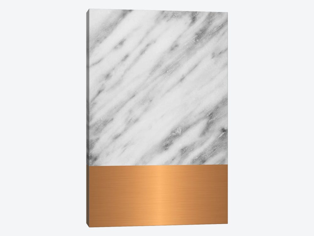 Carrara Marble With Copper by Emanuela Carratoni 1-piece Canvas Wall Art