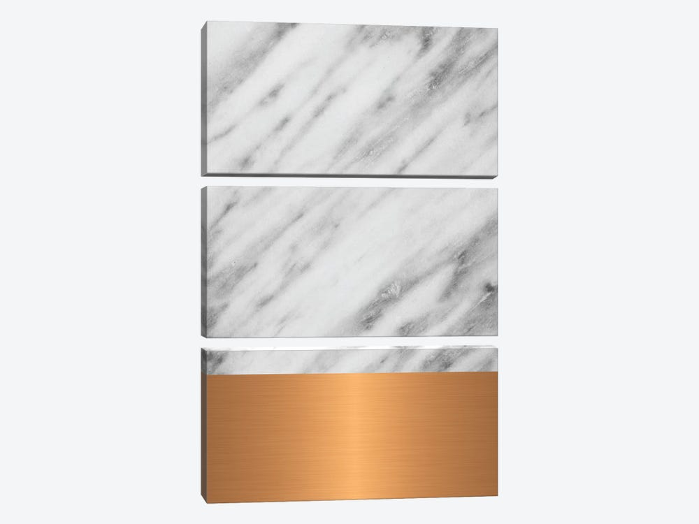 Carrara Marble With Copper by Emanuela Carratoni 3-piece Canvas Wall Art