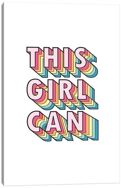 This Girl Can Canvas Art Print