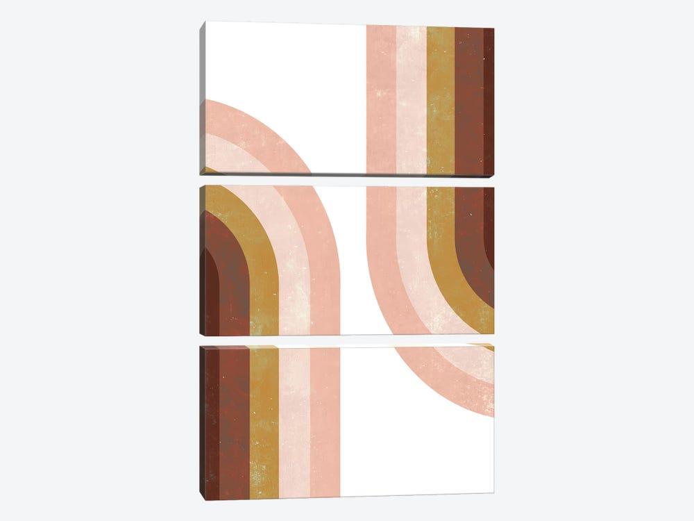 Double Vintage Rainbow by Emanuela Carratoni 3-piece Art Print