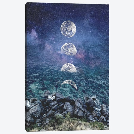 Moon Galaxy Canvas Print #CTI214} by Emanuela Carratoni Canvas Print