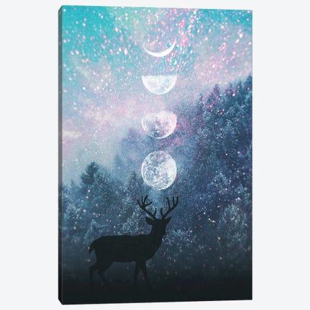 Deer And Moon Canvas Print #CTI215} by Emanuela Carratoni Canvas Print