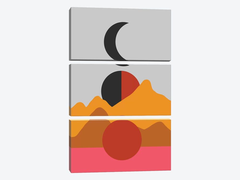 Moon Hills by Emanuela Carratoni 3-piece Canvas Art