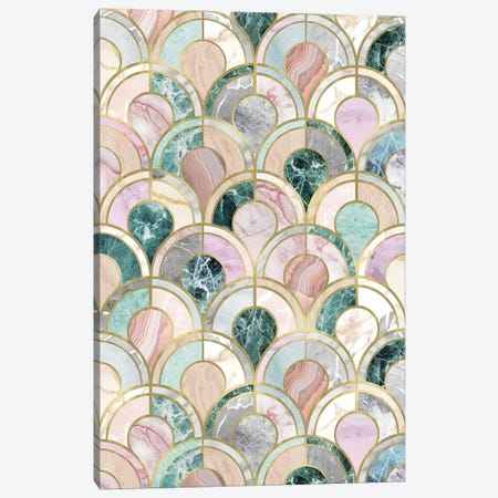 Marble Inlays 3-Piece Canvas #CTI225} by Emanuela Carratoni Canvas Wall Art
