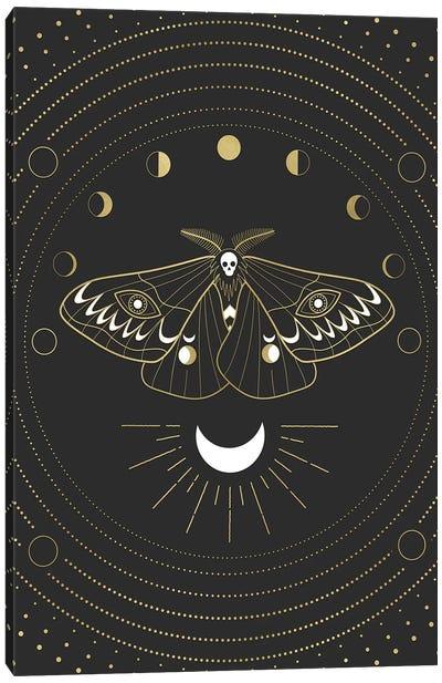 Moon Mothman Canvas Art Print