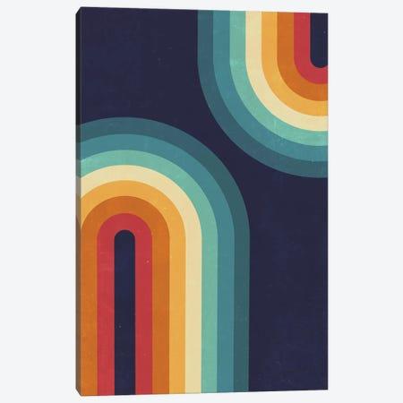 Double Rainbow On Blue Canvas Print #CTI247} by Emanuela Carratoni Canvas Artwork