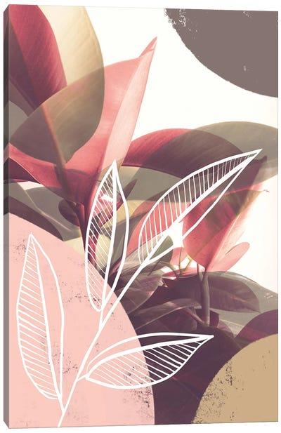 Pastel Greenery Theme Canvas Art Print