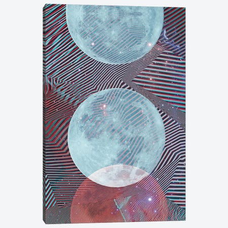 Techno Moon Canvas Print #CTI255} by Emanuela Carratoni Art Print