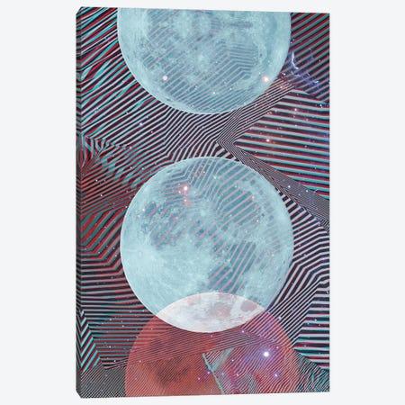 Techno Moon Canvas Print #CTI255} by Emanuela Carratoni Art Print