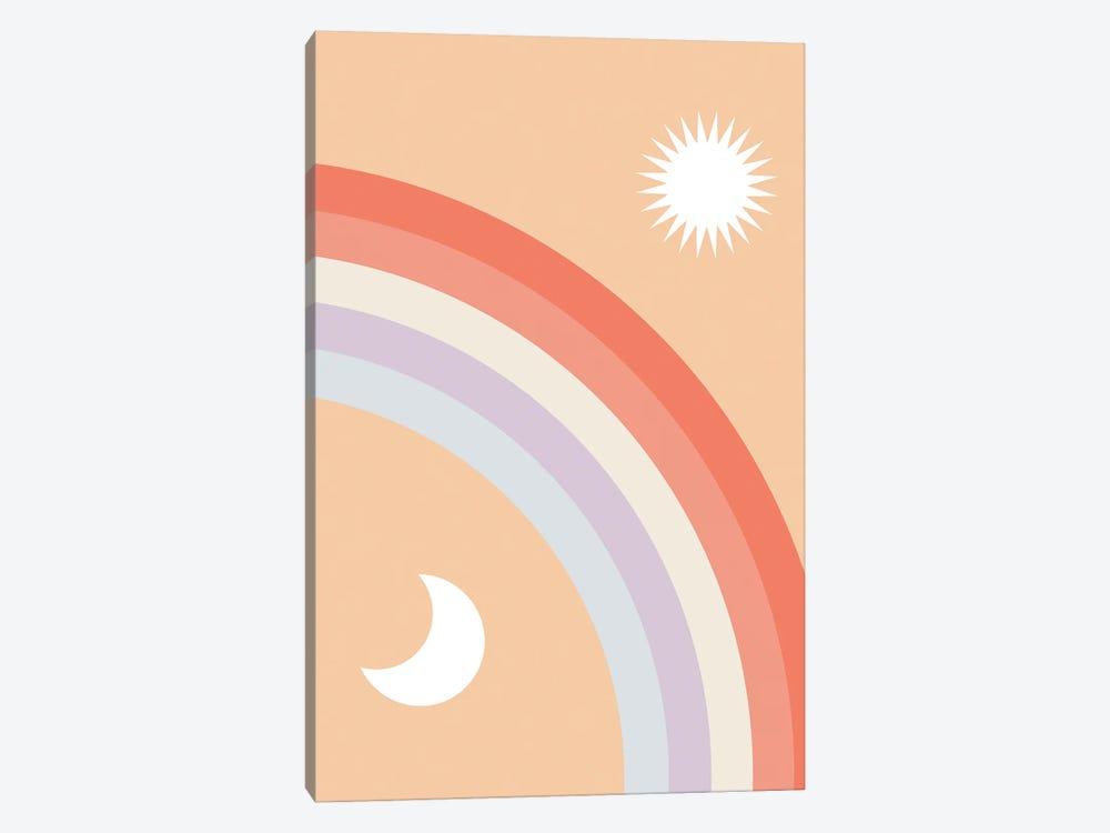 Rainbow Moon and Sun by Emanuela Carratoni 1-piece Art Print