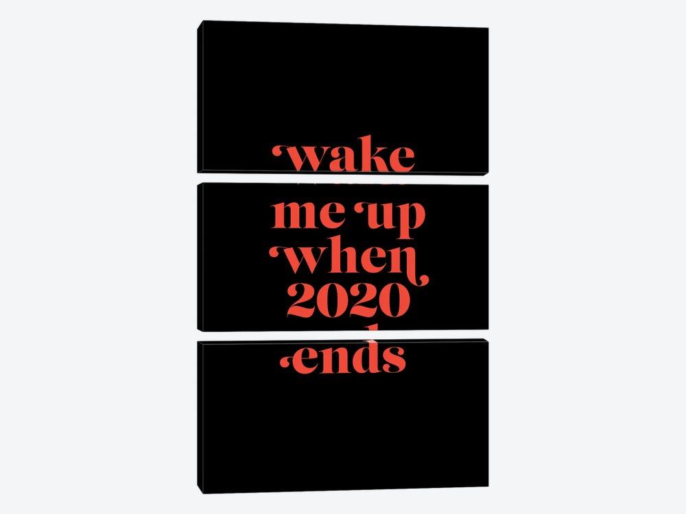 Wake me up when 2020 by Emanuela Carratoni 3-piece Canvas Art Print