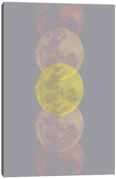 Ultimate Gray And Lighting Moon Canvas Art Print