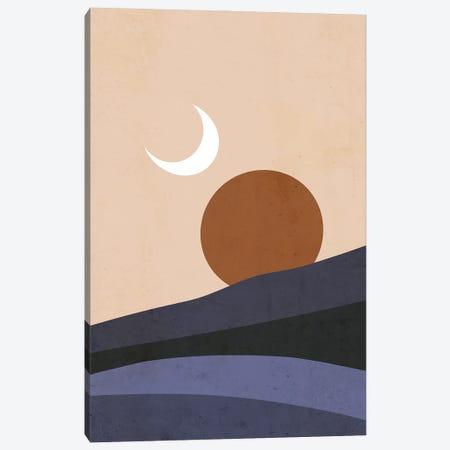 Moon And Sun At Sunset Canvas Print #CTI279} by Emanuela Carratoni Canvas Artwork