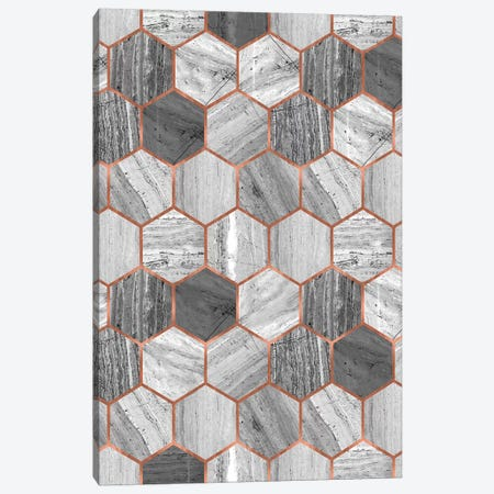 Hexagonal Marble Canvas Print #CTI30} by Emanuela Carratoni Canvas Print