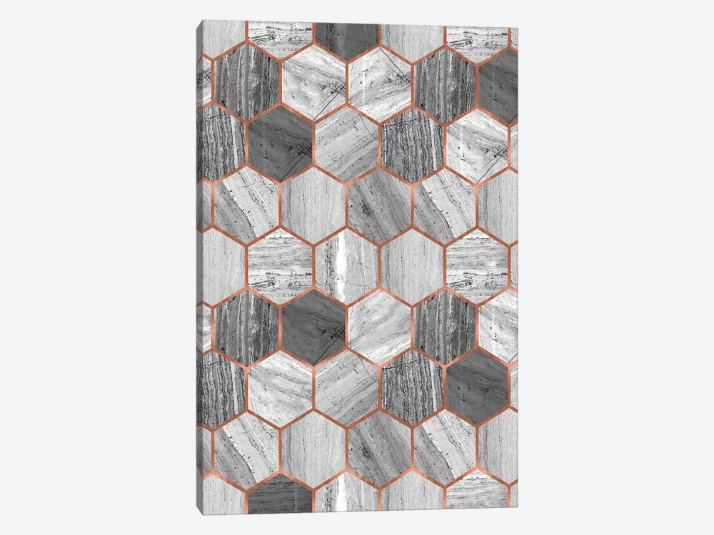 Hexagonal Marble by Emanuela Carratoni 1-piece Canvas Art