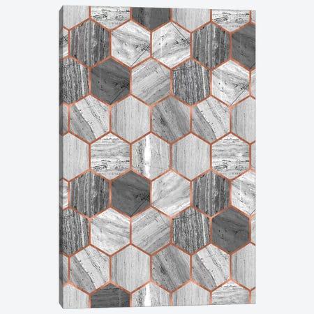 Hexagonal Marble 3-Piece Canvas #CTI30} by Emanuela Carratoni Canvas Print