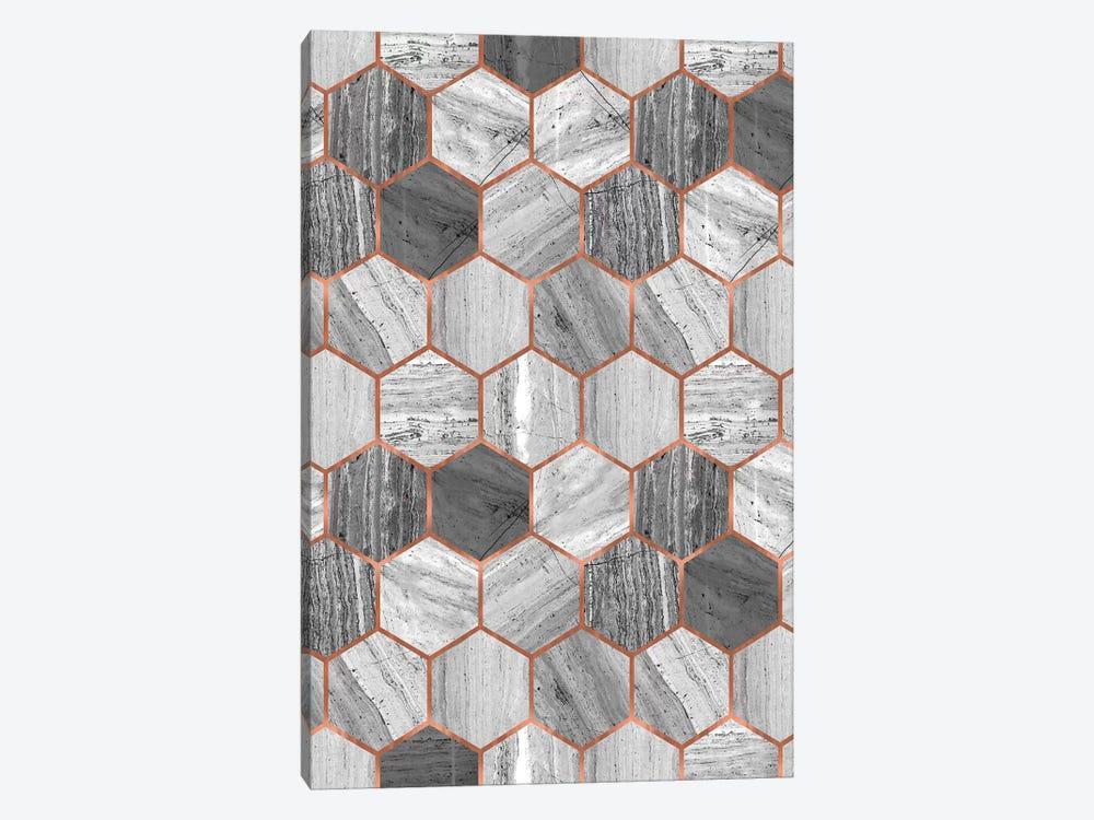 Hexagonal Marble by Emanuela Carratoni 1-piece Canvas Art