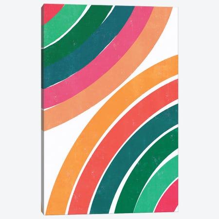 Double Fun Rainbow Canvas Print #CTI311} by Emanuela Carratoni Art Print