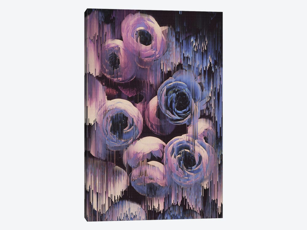 Floral Glitches by Emanuela Carratoni 1-piece Canvas Wall Art