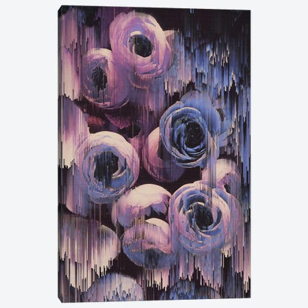 Floral Glitches Canvas Print #CTI32} by Emanuela Carratoni Canvas Print