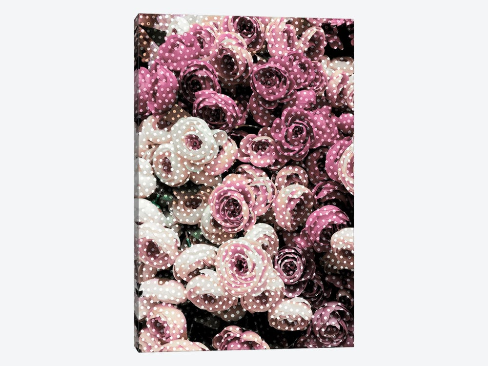 Flowers With Polka Dots by Emanuela Carratoni 1-piece Art Print