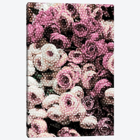 Flowers With Polka Dots 3-Piece Canvas #CTI33} by Emanuela Carratoni Canvas Art Print