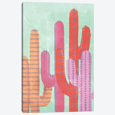 Funny Cactus Canvas Print #CTI35} by Emanuela Carratoni Canvas Artwork