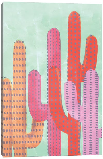 Funny Cactus Canvas Art Print