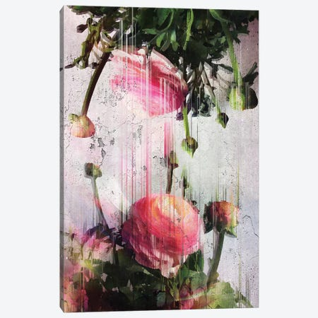Glitched Buttercups 3-Piece Canvas #CTI37} by Emanuela Carratoni Canvas Art