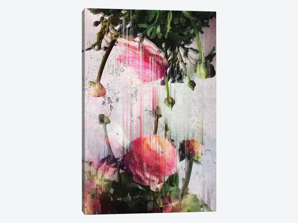Glitched Buttercups by Emanuela Carratoni 1-piece Canvas Art Print
