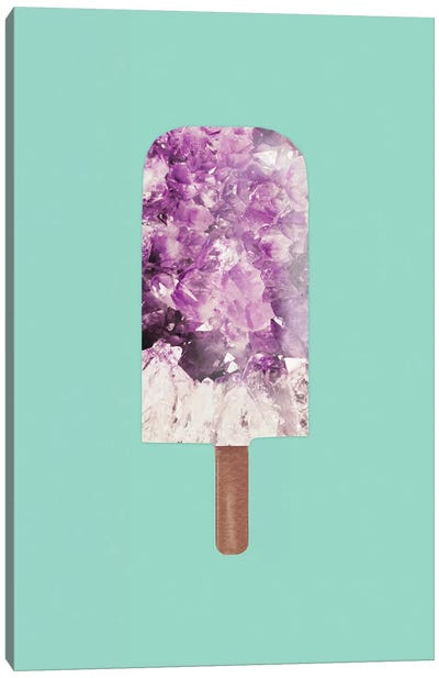 Amethyst Popsicle by Emanuela Carratoni Canvas Art Print