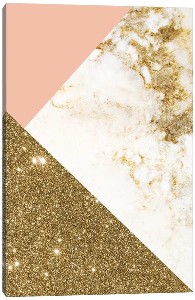 Gold Marble Collage Canvas Art Print