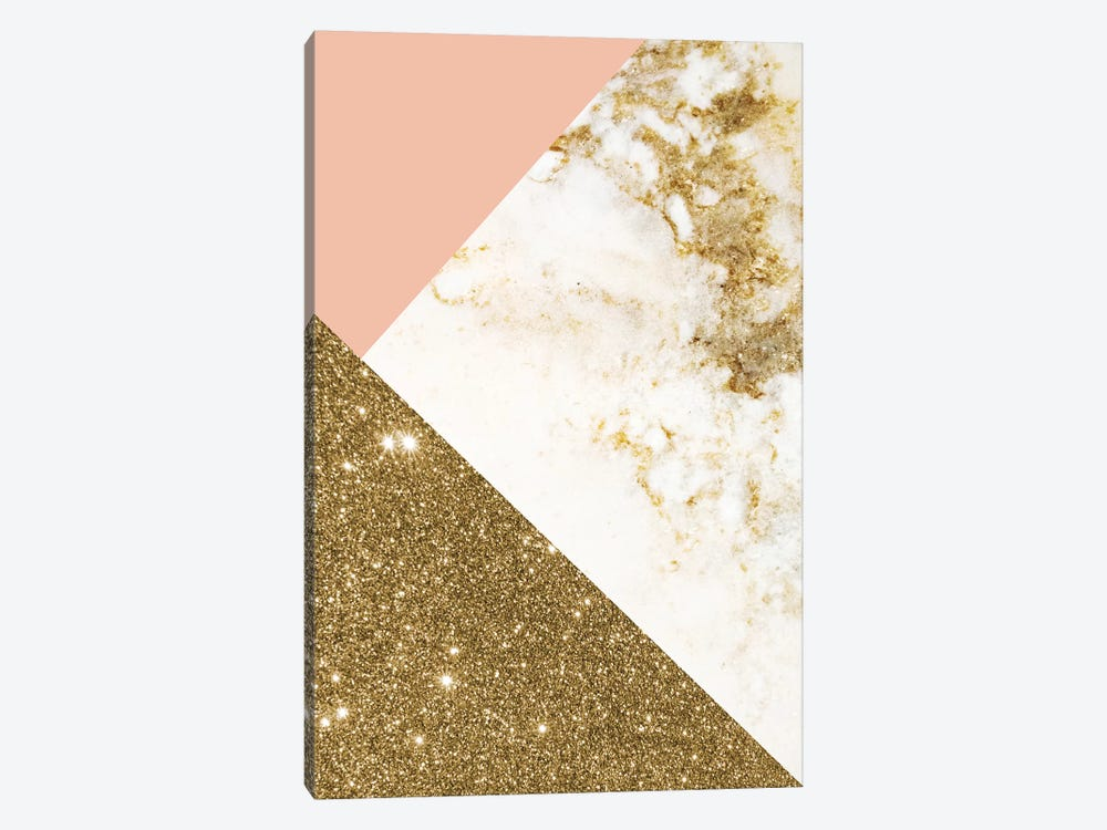 Gold Marble Collage by Emanuela Carratoni 1-piece Canvas Print