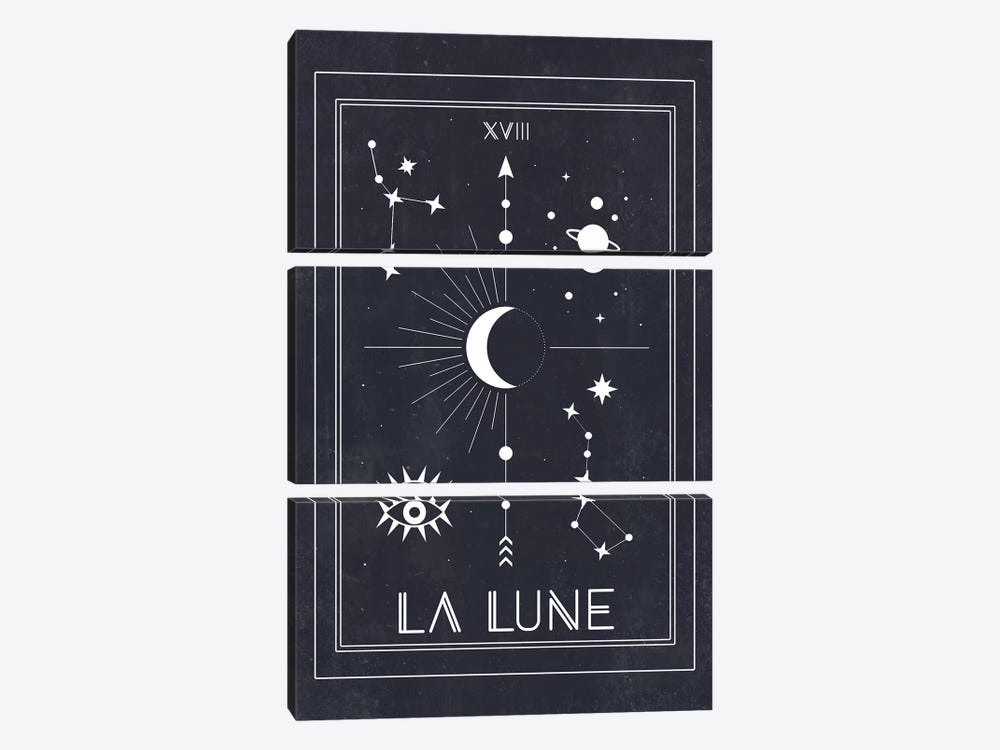 La Lune by Emanuela Carratoni 3-piece Canvas Art