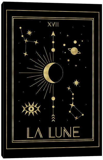 La Lune Gold Edition by Emanuela Carratoni Canvas Art Print