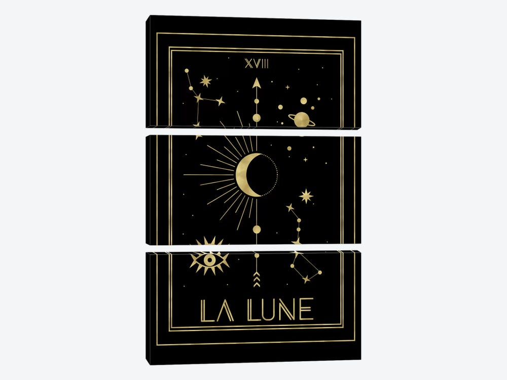 La Lune Gold Edition by Emanuela Carratoni 3-piece Canvas Art Print