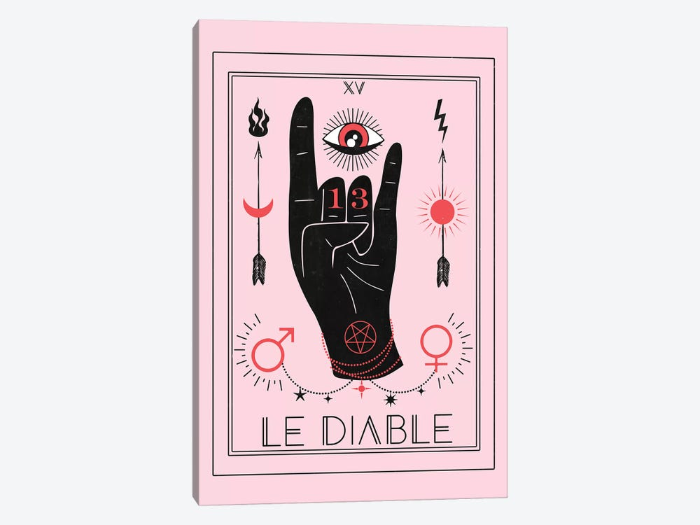 Le Diable by Emanuela Carratoni 1-piece Canvas Wall Art