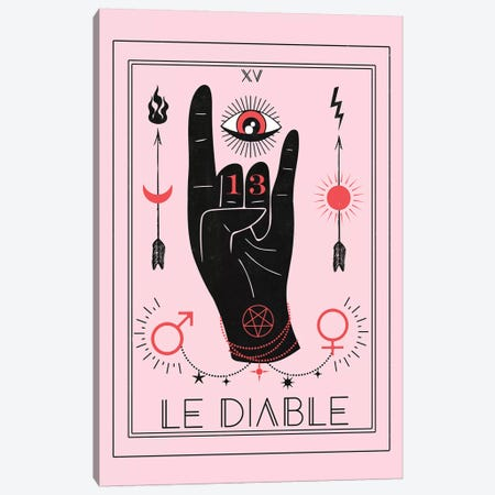 Le Diable 3-Piece Canvas #CTI50} by Emanuela Carratoni Canvas Print
