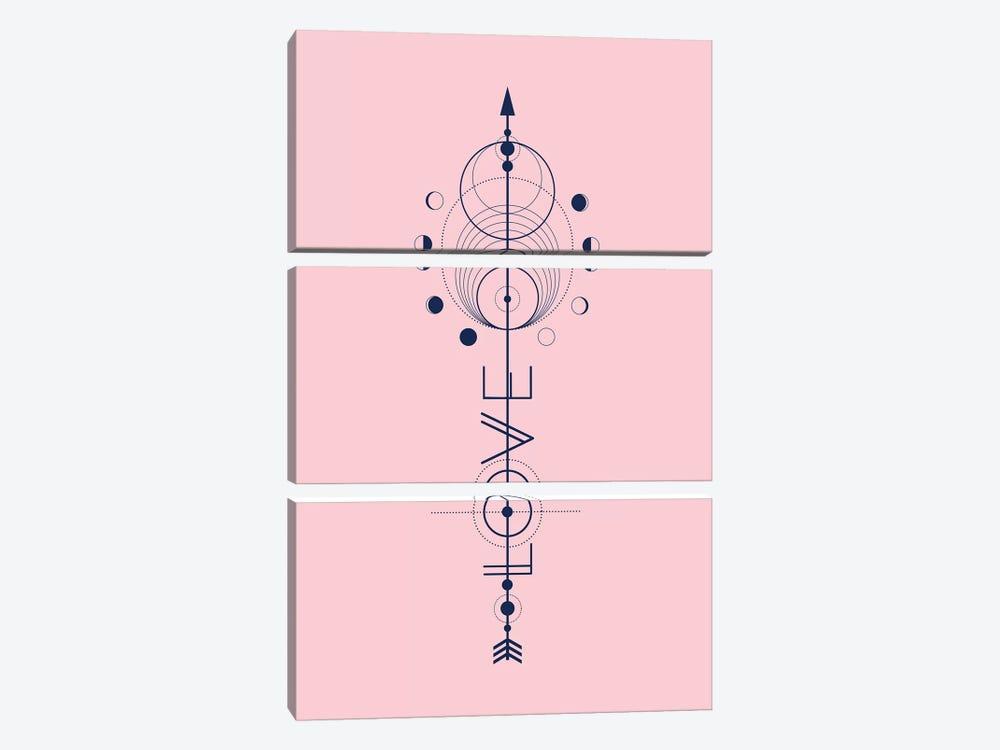 Love Arrow by Emanuela Carratoni 3-piece Art Print