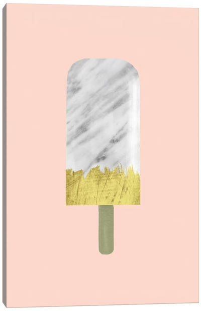 Marble And Gold Popsicle by Emanuela Carratoni Canvas Art Print