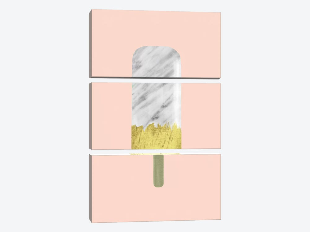 Marble And Gold Popsicle by Emanuela Carratoni 3-piece Canvas Art Print