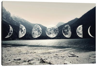 Moonlight Mountains by Emanuela Carratoni Canvas Art Print