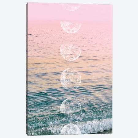 Moontime Beach Canvas Print #CTI60} by Emanuela Carratoni Canvas Art