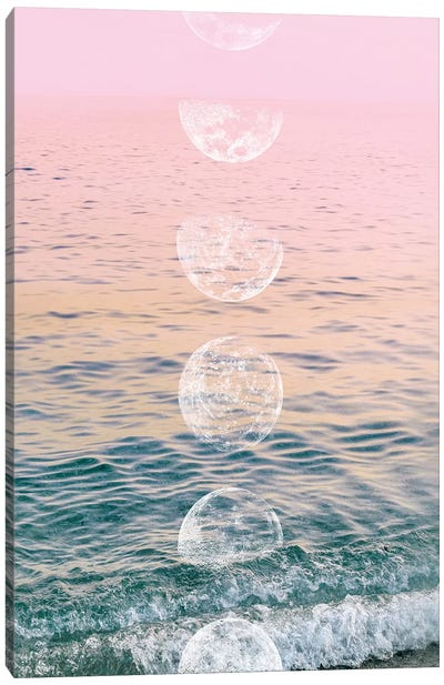 Moontime Beach by Emanuela Carratoni Canvas Art Print