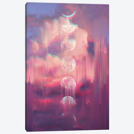 Moontime Glitches Canvas Print #CTI61} by Emanuela Carratoni Canvas Art
