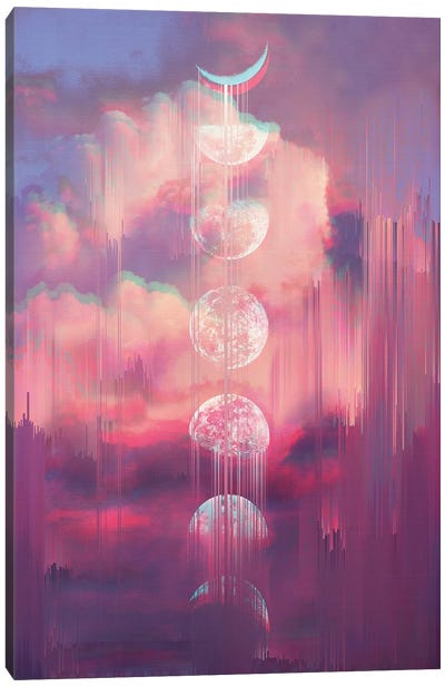 Moontime Glitches Canvas Art Print