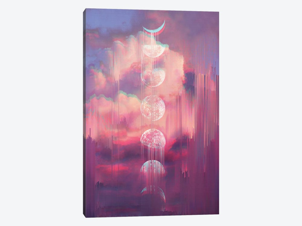 Moontime Glitches by Emanuela Carratoni 1-piece Canvas Artwork