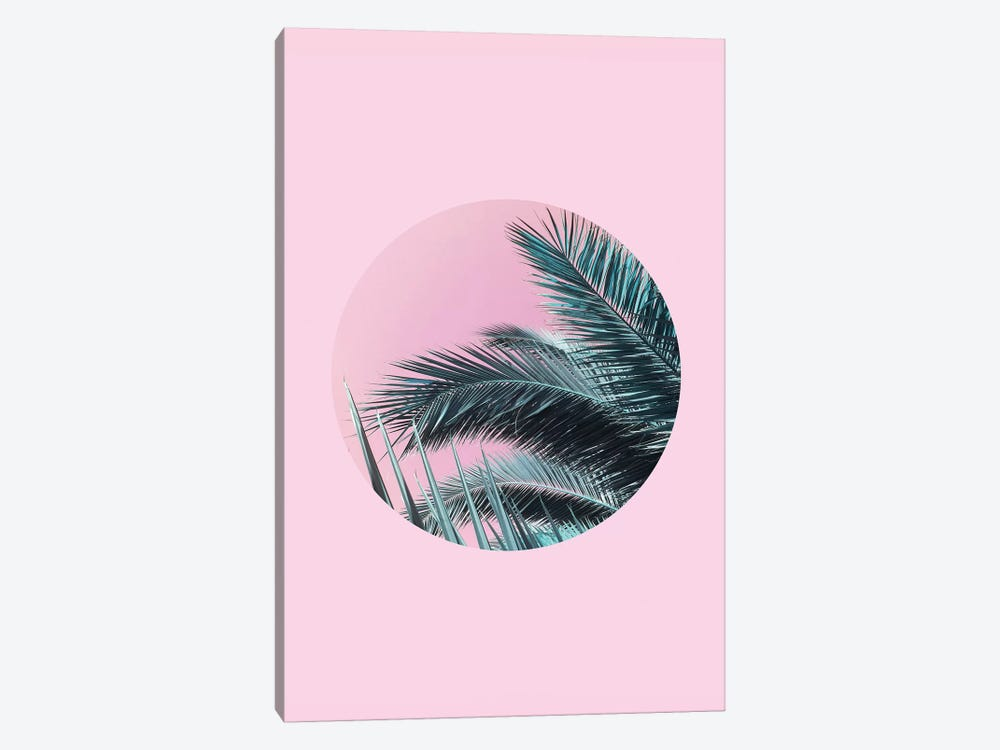 Palms On Pink by Emanuela Carratoni 1-piece Canvas Art