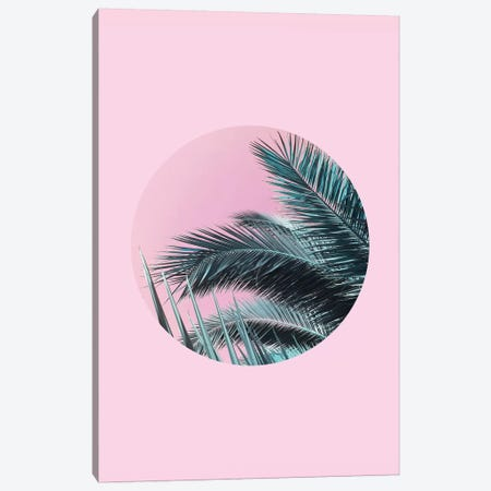 Palms On Pink Canvas Print #CTI65} by Emanuela Carratoni Art Print