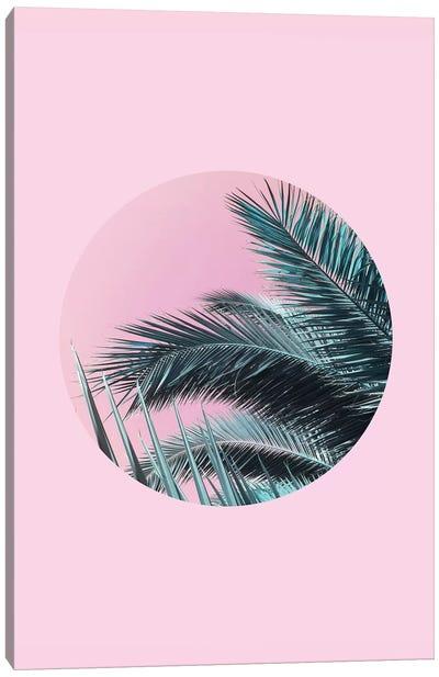 Palms On Pink Canvas Art Print
